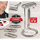 As Seen On TV Micro Touch Razor One Classic Safety with Extra Blades MicroTouch