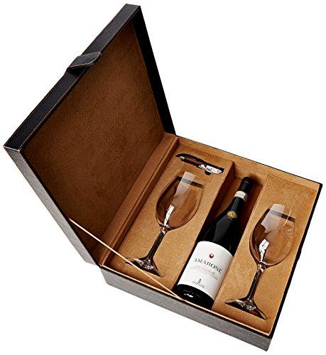 Vintage Marque Leatherette Box – Corkscrew & Tedeschi Amarone Della Valpolicella 2011, 2 Glasses