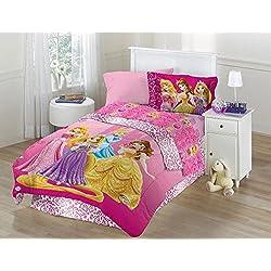 Disney's Princess Shine All The Time Full Comforter Set