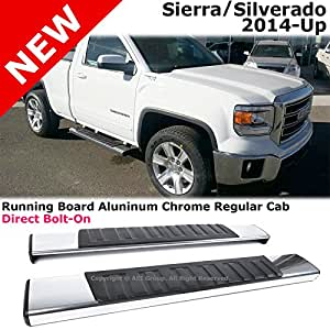 Amazon.com: GMC Sierra Chevy Silverado 2014 Regular Cab Silver Side