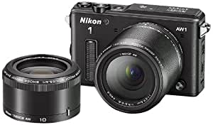Nikon 1 AW1 14.2 MP HD Waterproof, Shockproof Digital Camera System with AW 11-27.5mm f/3.5-5.6 and AW 10mm 1 NIKKOR Lenses (Black)