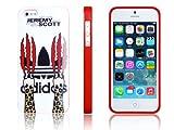 iPhone5/5S ケース adidas×JeremyScott アディダス×ジェレミースコットコラボケース ネイルレオパード レッドフレーム
