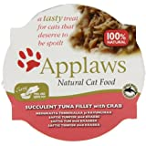 Applaws Cat Pot Succulent Tuna with Crab 10 x 60 g