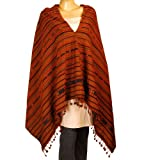 Woman Shawl Tribal Embroidered Wool Wrap 203 x 88 Cmby ShalinIndia