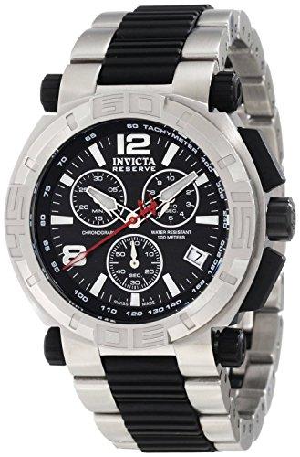 [インヴィクタ]Invicta 腕時計 Reserve Chronograph Black Dial Stainless Steel Watch 1868 メンズ [並行輸入品]