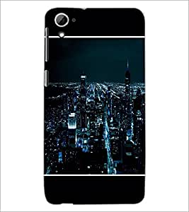 PrintDhaba Lightning City D-1275 Back Case Cover for HTC DESIRE 826 (Multi-Coloured)