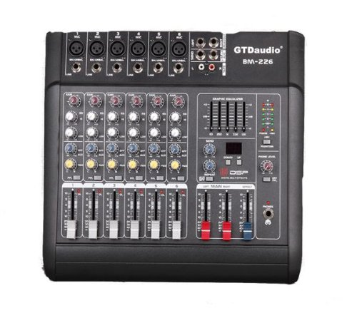 6 Channel 1000w Professional Power Mixer Amplifier