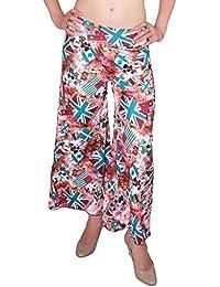DAMEN MODE Women's Viscose Palazzo - DMPP7000_Multi-Coloured_Free Size
