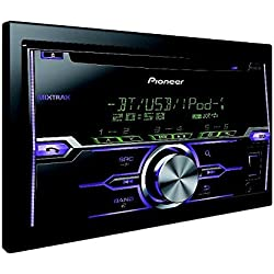 Pioneer FH-X720BT - Radio CD con RDS para coches de 4x50 W para iPod, iPhone, Android 4.0 (2 DIN), negro