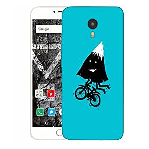 Snoogg Mountain Riding Cycle Designer Protective Back Case Cover For YU YUNICORN