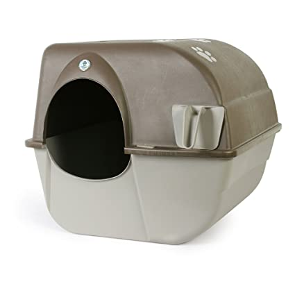 Omega Paw Pewter Self-Cleaning Litter Box