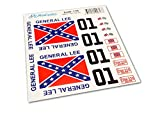GENERAL LEE RC Car 1/18 18th Scale Duke of Hazzard Decals Stickers Full Kit Set Already Cut