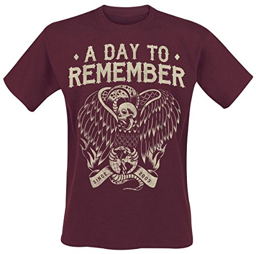 A Day To Remember Vulture T-Shirt marrone/rosso XL