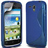 Ownstyle4you Protective Silicone TPU Case Skin Cover for Huawei Ascend G300 incl. Screenguard S-Line blue