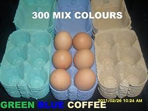 300 1/2 DOZEN NEW COLOURED EGG BOXES