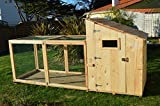 Poulailler cocoricocotte avec parc et plancher anti-renard pour 2 à 8 poules