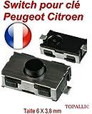 Switch bouton clé télécommande plip Peugeot 206 107 307 406 Citroen C3 C2 ©TOPALLI