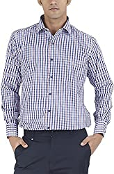 Silkina Men's Regular Fit Shirt (EXCHKSP2FBR, 42)