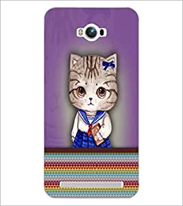 PrintDhaba Kitty D-3759 Back Case Cover for ASUS ZENFONE MAX ZC550KL (Multi-Coloured)