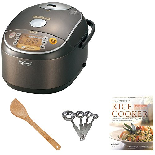 Zojirushi NP-NVC18 10- Cup Induction Heating Pressure Cooker and Warmer Bundle with Kitchen Textiles, Tools and Cookbook (Tiger Rice Cooker Jax compare prices)