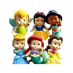 """Amazon.com: Set of 6 Chunky Baby Toddler Princess 2"""" Figures Featuring ...: amazon.com/toddler-princess-figures-featuring-cinderella/dp/b00gsq5vww"""