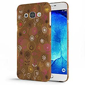 Koveru Back Cover Case for Samsung Galaxy A8- Brown Floral