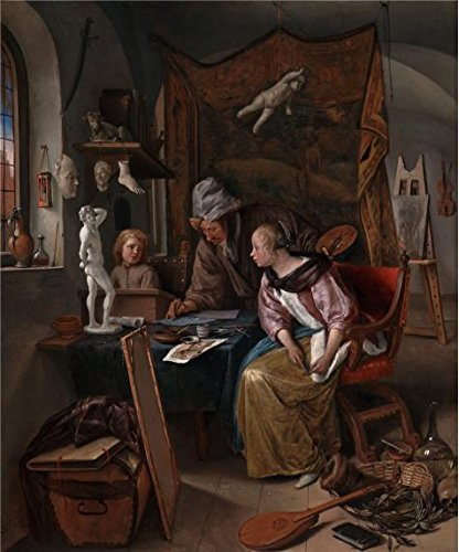 Oil Painting 'The Drawing Lesson, 1665 By Jan Steen' Printing On High Quality Polyster Canvas , 8x10 Inch / 20x24 Cm ,the Best Hallway Decor And Home Artwork And Gifts Is This Imitations Art DecorativeCanvas Prints (Dirt Evil Vacuum Cleaner compare prices)