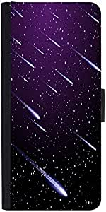 Snoogg Background With Meteor Shower Designer Protective Phone Flip Case Cover For Htc Desire-626G