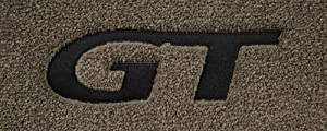 Logo 1999-1999 Ford Mustang Convertible Mid-level Custom 4 Pc Car Mat Set Mid-Level Cruiser Mat Color: Grey Mat Logo: GT Applique Black (1979-2004 Mustang)