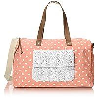 Wild Pair Printed Dot Weekender Duffle Bag, Rose, One Size
