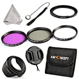K&F Concept 67mm 3pcs UV CPL FLD Lens Accessory Filter Kit UV Protector Circular Polarizing Filter for Canon Canon Powershot SX50 SX40 7D 700D 600D 70D 60D 650D 550D for Nikon D7100 D80 D90 D7000 D5200 D3200 D5100 D3200 D5300 DSLR Cameras + Adapter Ring