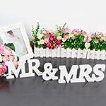 Prochive Wooden letters MR & MRS Wedd...