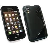 Kit Me Out ES Funda de gel TPU para Samsung Galaxy Ace S5830 - Negro Formas de onda