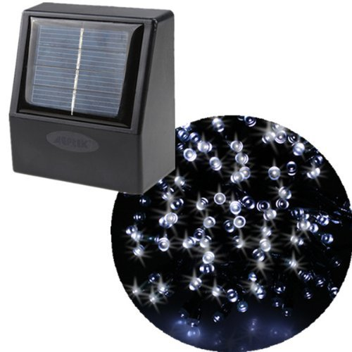 AGPtek 55ft 100 LED Solar String Fairy White Lights Outdoor Garden Xmas