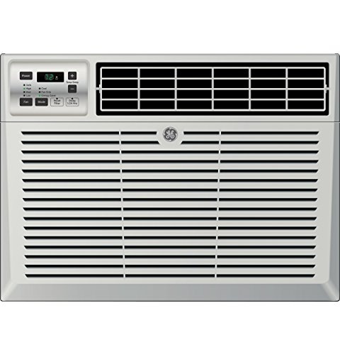 """GE AEM08LV 21"""" Dash Star Qualified Window Air Conditioner 115V with 8,000 BTU Cooling Capacity Light Cool Gray"""
