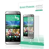 amFilm HTC One M8 Screen Protector 2014 (Verizon/AT&T/Sprint) Premium HD Clear (3-Pack) [Lifetime Warranty]