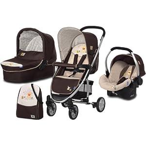 Hauck 142174 Kinderwagenset Malibu All in One: inkl. Wanne, Zero Plus Comfort, Wickeltasche, Wetterschutz POOH DOODLE
