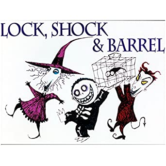 Lock shock barrel 8x10 photo nightmare before christmas for Lock shock and barrel coloring pages