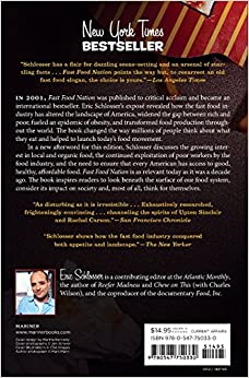 the dark side of the all american meal by eric schlosser essay Free essay: in the book fast food nation, eric schlosser talks about the working   eric schlosser's fast food nation: the dark side of the all-american meal.