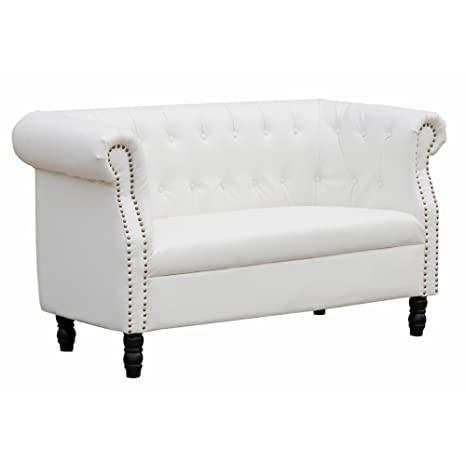 Lemodern Chester Loveseat (White)