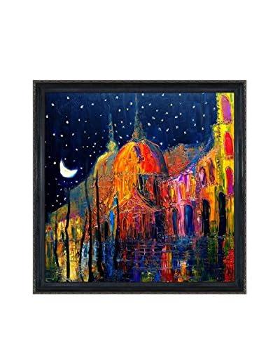 Justyna Kopania Night Framed Canvas Print