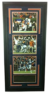 Chris Davis Autographed Signed Framed Auburn Tigers 8x10 NCAA Photo Collage with Kick... by Radtke Sports