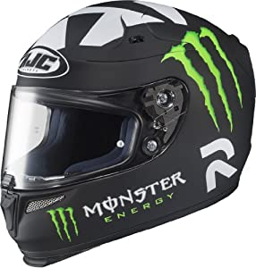 HJC Helmets Ben Spies Replica Monster II Graphic RPHA 10 Full Face Helmet (Matte Black, Small) from HJC Helmets