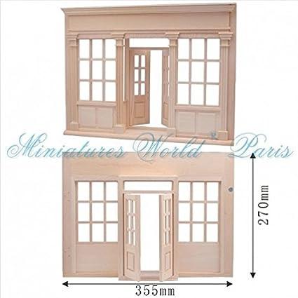 Maison de poupées miniature - Facade de boutique