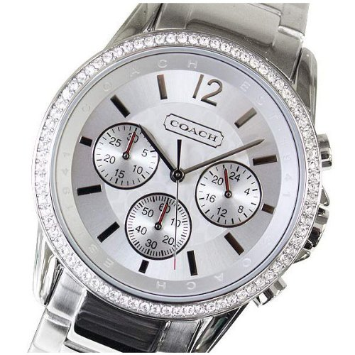Coach Boyfriend Crystals Chrono Ladies Stainless Steel Watch 14501568