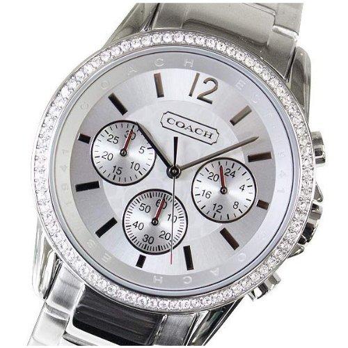 Coach Boyfriend Crystals Chrono Ladies Stainless Steel Watch 14501568