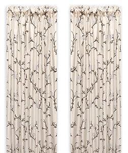 Bonavista Home Asian Willow Rod Pocket Panel, Light Blue, 57-Inch by 96-Inch