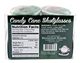 Edible Peppermint Candy Cane Shot Glasses - 2 Pack, 4 Shot Glasses
