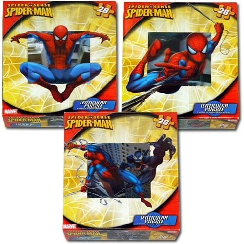 "28pc Spiderman Lenticular Puzzle 6""x9"" (Assorted Design) - 1"