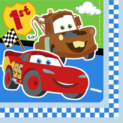 Disney Cars 1st Birthday Party Lunch Napkins